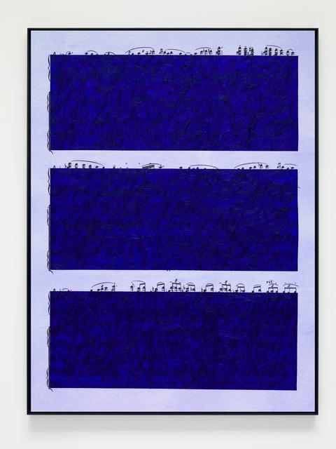 , 'Ultramarine Rhythm 5,' 2019, Victoria Miro