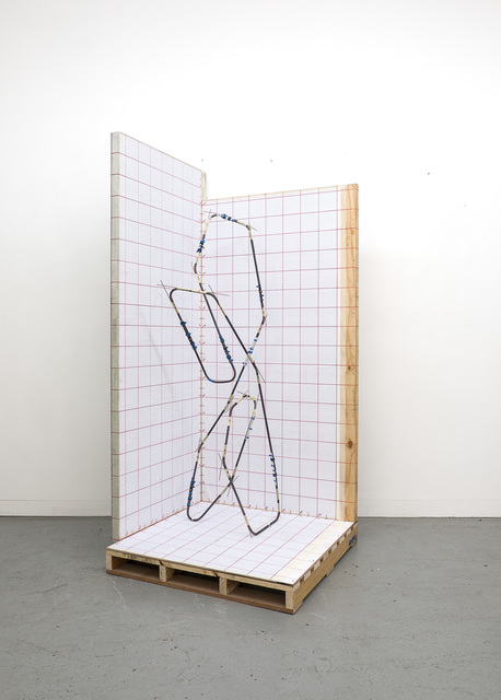 , 'Mandrel Sculpture 4 Maquette in coordinate plotting booth,' 2018, blank projects