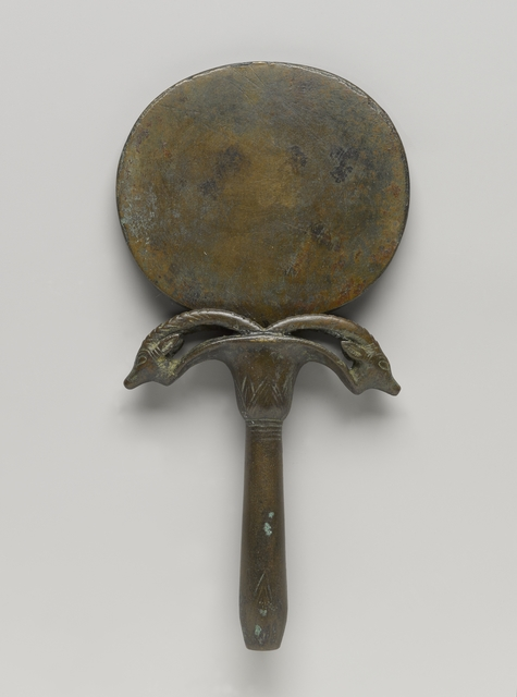 , 'Mirror with Handle in Form of Umbel with Two Ibex Heads,' ca. 1539 BCE, Brooklyn Museum