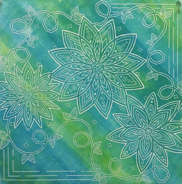 , 'Geometric Bloom(Minty),' 2014, Space 776