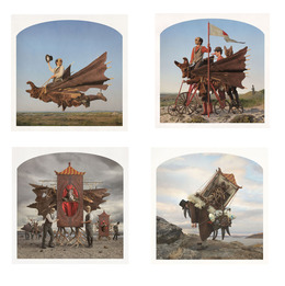 , '(Clockwise, start top left)Rider of the Apocalypse, A Jolly Company, Plague Doctor, Baba Yaga's House,' , Yancey Richardson Gallery