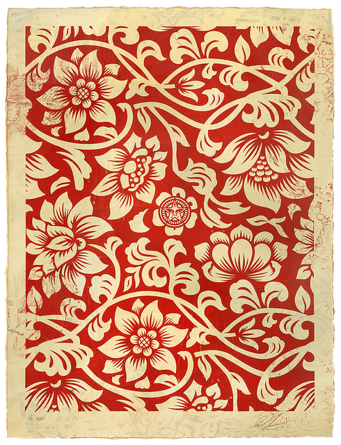 , 'Floral Takeover (Cream/Red),' 2017, 212GALLERY