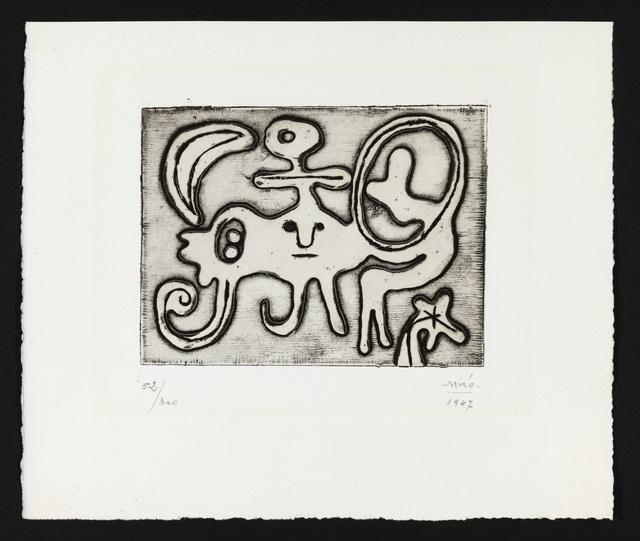 Joan Miró, 'Femme et Oiseau Devant la Lune (Dupin 51)', 1947, Forum Auctions
