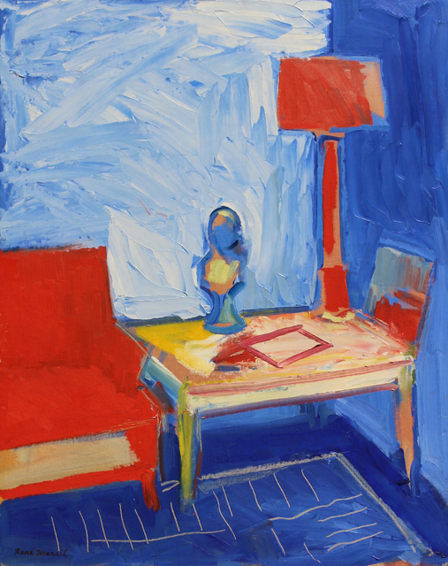 , 'Still Life Interior, Red Couch and Lamp,' ca. 1957, Nikola Rukaj Gallery