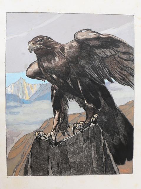 Paul Jouve, 'Art Deco Watercolor 'Aigle Royal dans les Montagnes', by Paul Jouve', 1930-1939, Avant-Garde Gallery