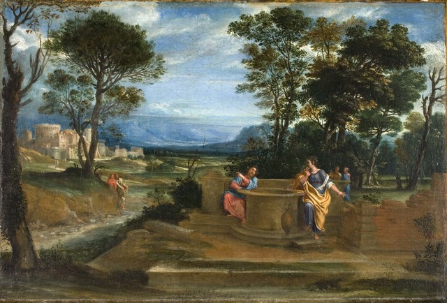 , 'Christ and the Woman of Samaria,' ca. 1620, Davis Museum