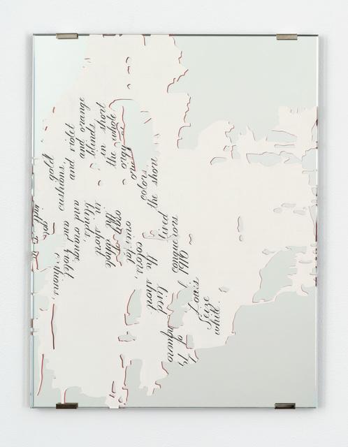 , 'Dior Fragment, 6B,' 2016, Bortolami