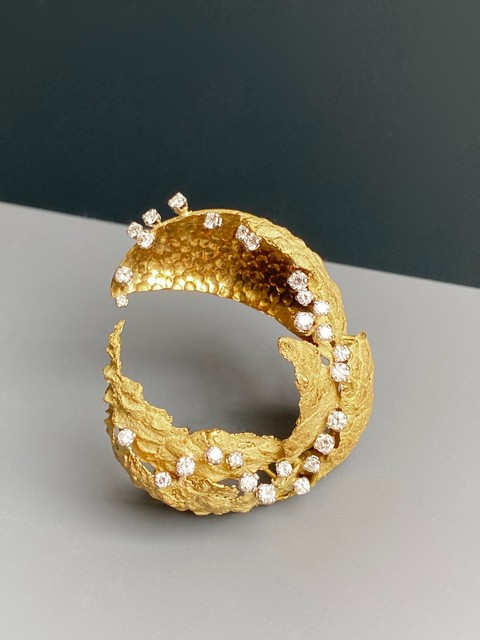 , 'Gold and diamond 'Lychee' Brooch,' 1965, Grima