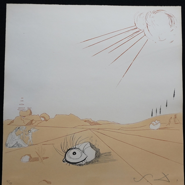 Salvador Dalí, 'Neuf Paysages Espace Paysage from Cobea', 1980, Print, Etching, Fine Art Acquisitions Dali