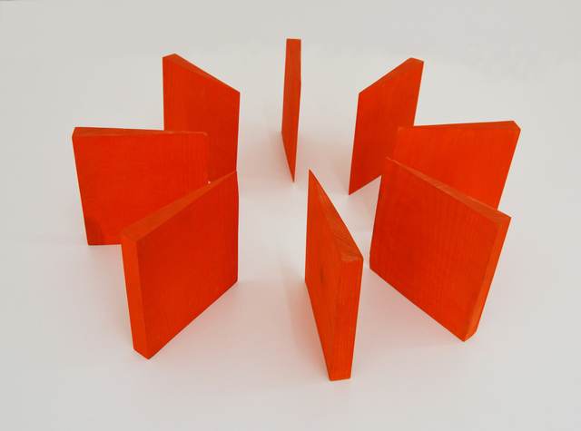 , 'Ocho muros naranjas,' 1974, Galería La Caja Negra