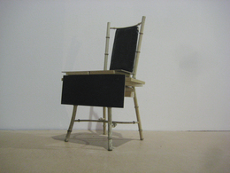 , 'Black to Black chair,' 2009, Nina Johnson
