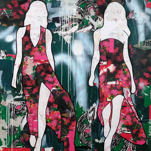 , 'Pink Flowers ,' 2017, Lanoue Gallery
