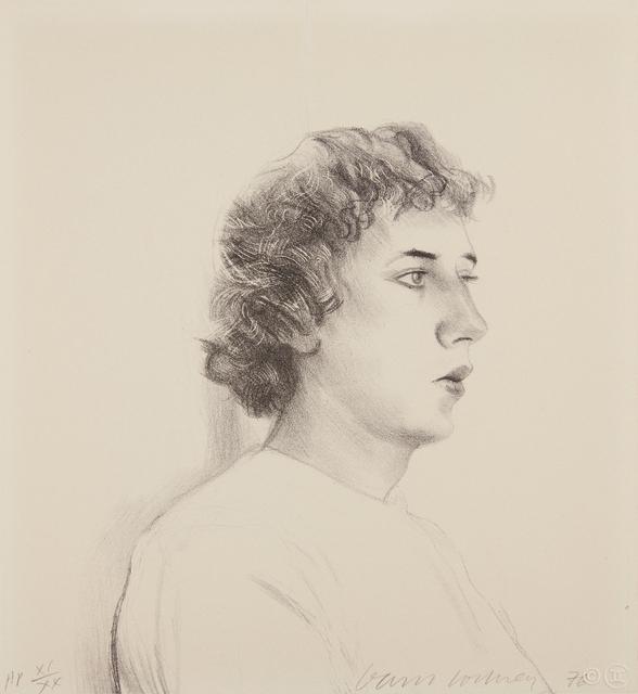 David Hockney, 'Small Head of Gregory', 1976, Phillips