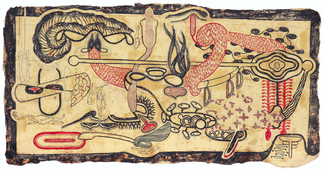 Simone Pellegrini, 'Usuato Droma', 2020, Drawing, Collage or other Work on Paper, Oil and pigment on paper, Cavin-Morris Gallery