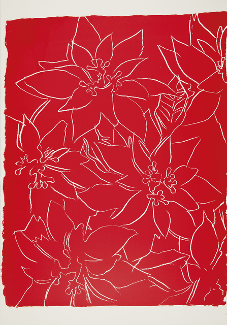Andy Warhol, 'Poinsettias -unique-', ca. 1983, JF Fine Arts & Verosa