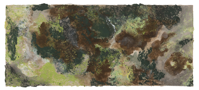Melati Suryodarmo, 'MOSS 1', 2018, Painting, Coloured linen pulp and lokta pulp painting, STPI