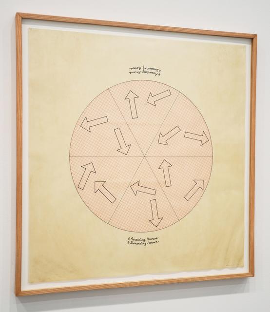 , '6 Ascending Arrows, 6 Descending Arrows,' 1978, Minus Space