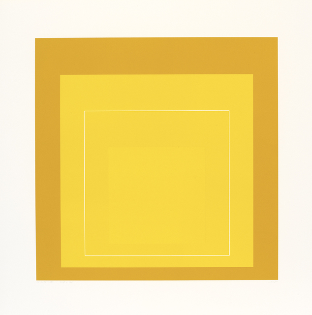 Josef Albers, 'WLS X', 1966, Print, Three-colour aluminum plate lithographs on handcut Arches Cover paper, Cristea Roberts Gallery