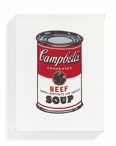 Richard Pettibone, 'Campbell's Soup Can, Beef with Vegetables and Barley', Christie's