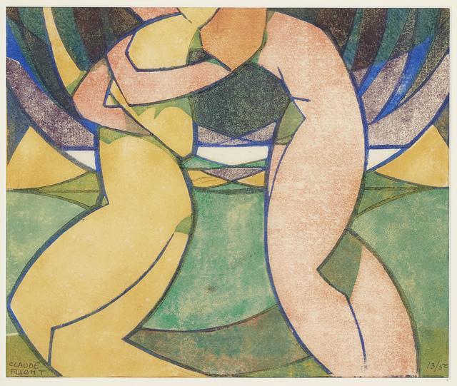 Claude Flight, 'Spring [Coppel CF 16]', 1926, Print, Linocut in colours on laid, Roseberys
