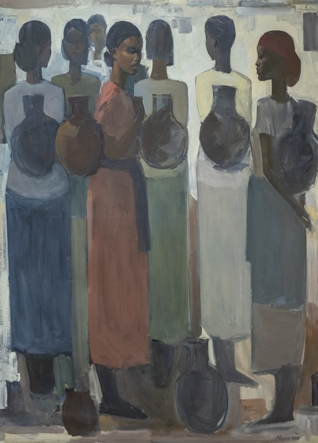 , 'Pillars of Life: Water Bearers II,' 2019, Addis Fine Art