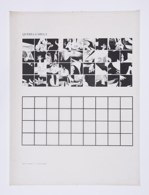 , 'Quebra-Cabeça,' 1977, Luciana Brito Galeria