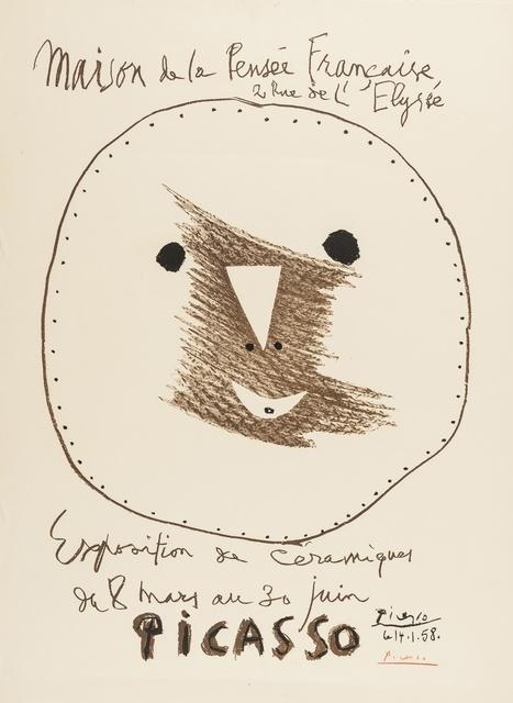 Pablo Picasso, 'Exposition de Ceramiques (Bloch 1280; Mourlot 313)', 1958, Print, Lithograph printed in colours, Forum Auctions