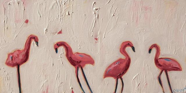 , 'Flamingos,' 2018, Tim Collom Gallery