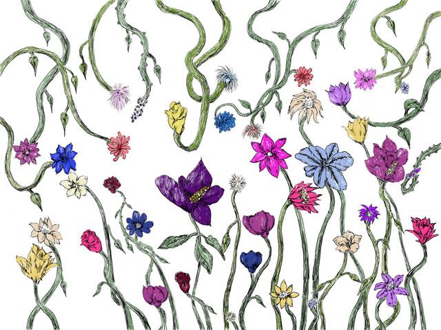 Gerald Wiggins, 'Flowers', 2015, Creativity Explored