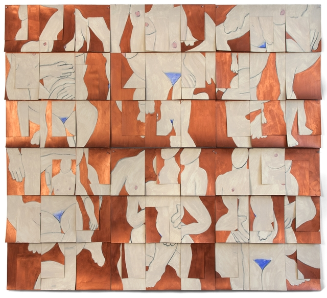 Susan Weil, 'Copper', 1999, Drawing, Collage or other Work on Paper, Acrylic, charcoal and watercolor on paper, Sundaram Tagore Gallery