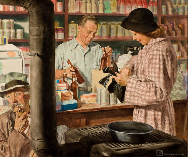 Douglass Crockwell, 'Country Store', The Illustrated Gallery