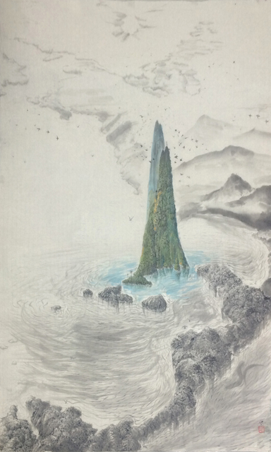 , 'The growing island ,' 2015, Galerie Dumonteil