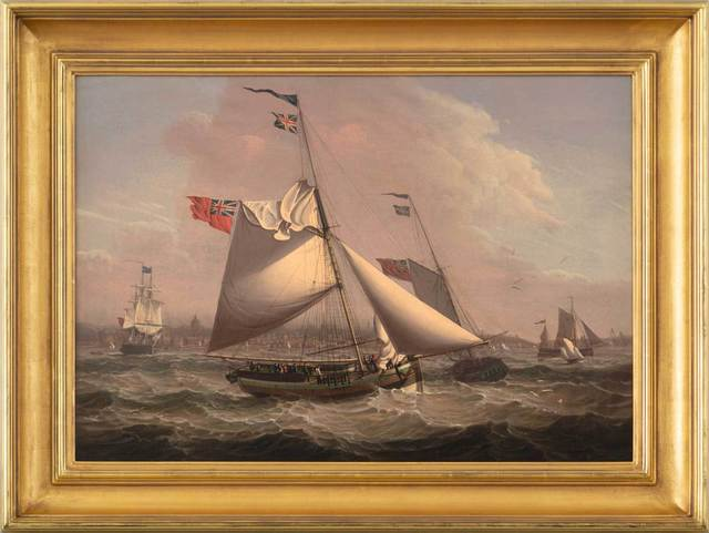 Robert Salmon, 'Mail Packet from Liverpool to Glasgow', 1805, Painting, Oil on canvas, Vose Galleries