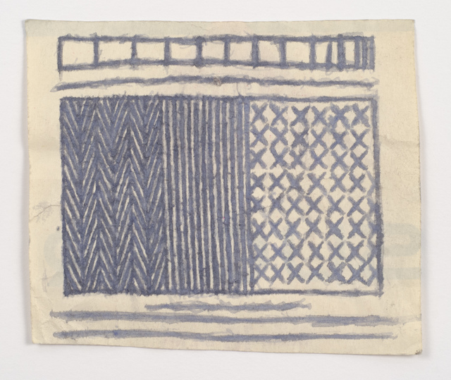James Castle, 'Untitled (Light blue/gray abstraction)', n.d., Fleisher/Ollman