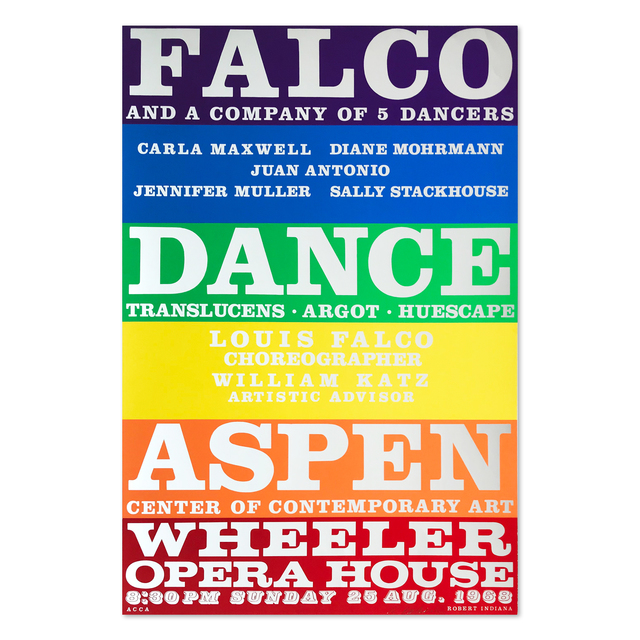 Robert Indiana, 'Falco Dance Company', 1968, MLTPL