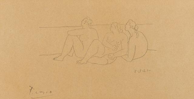 Pablo Picasso, 'Sur la Plage II (3 Nus) (Bloch 43; Cramer 10)', 1921, Print, Lithograph, Forum Auctions