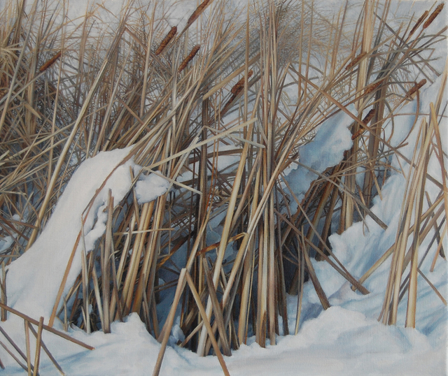 , 'Winter (Reeds),' 2015, West Branch Gallery