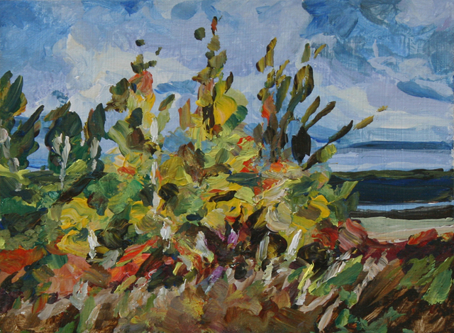 Dorothy Knowles, 'Bright Trees on the River', Wallace Galleries