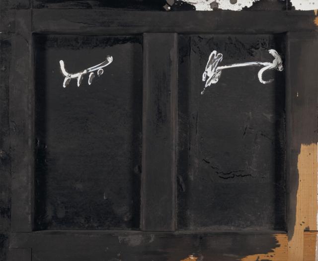 , 'Parpella sobre negre,' 1985, Galeria Jordi Pascual