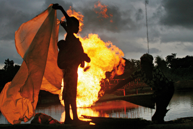 , 'Gas Flare 3,' 2006, TAFETA