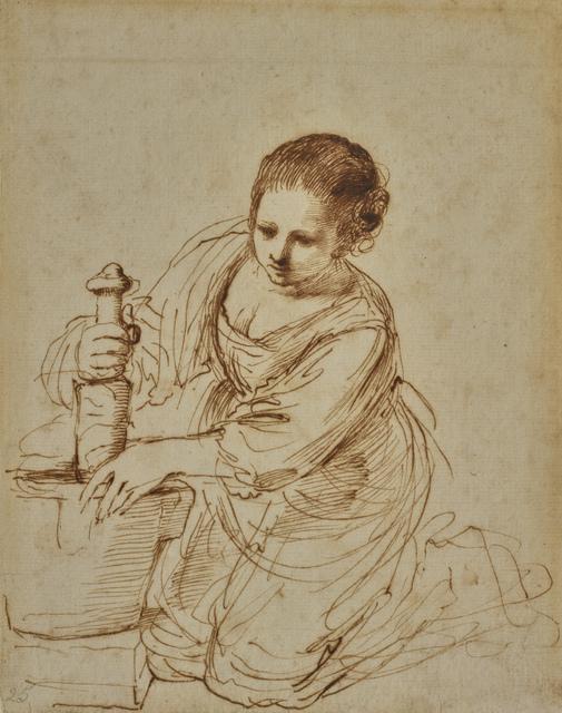 , 'Femme au mortier,' 17th century, Didier Aaron