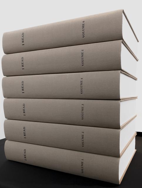 , 'I READ,' 2017, mfc - michèle didier