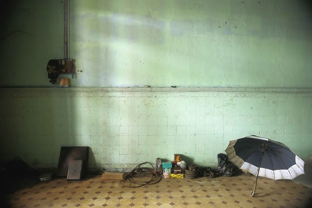 , '15_Still life with hanging comb and a demolition crewmember's open umbrella,' 2011, Art Vietnam Gallery