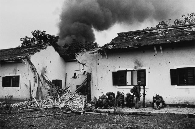 Don McCullin, 'Damaged schoolhouse, Tet offensive, Hue, Vietnam', 1968, Howard Greenberg Gallery