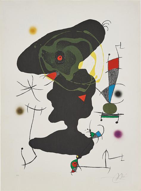 Joan Miró, 'Oda à Joan Miró (Ode to Joan Miró): plate V', 1973, Phillips