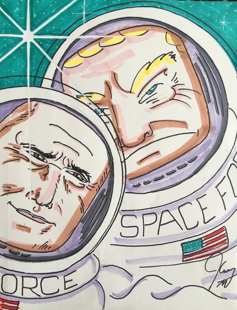 , 'Space Force,' 2018, Maccarone