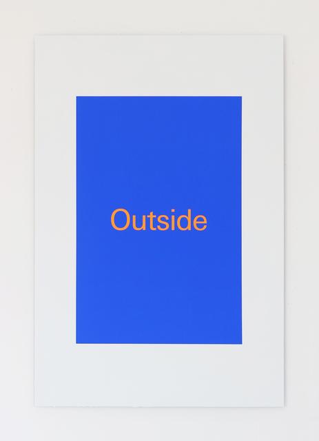 , 'Outside,' 2018, Super Dakota