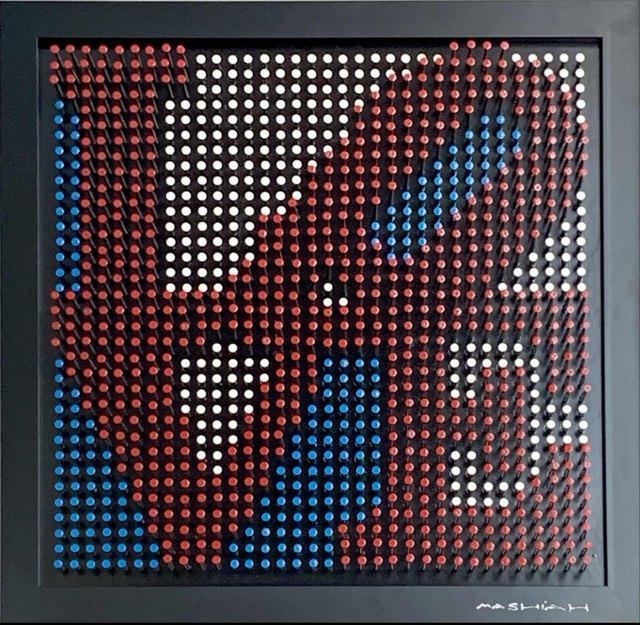 Efraim Mashiah, 'LOVE - Red, White, Blue', 2018, Elena Bulatova Fine Art