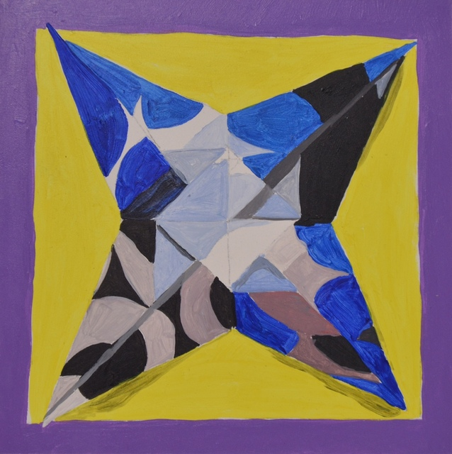 , 'Black and Blue Circle Star,' 2016, Ro2 Art