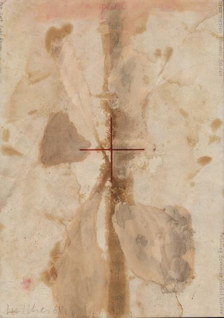, 'Werkzeichnung,' 1968, Galerie Jocelyn Wolff